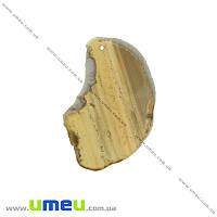 Срез Агата, Серо-коричневый, 75х51 мм, 1 шт (POD-004142)