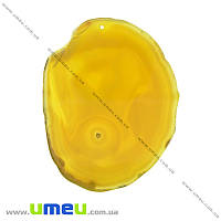 Срез Агата, Желтый, 96х76 мм, 1 шт (POD-009365)