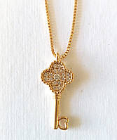Цепочка + с подвеской, ключик, цепочка 45- 50 см регулируется