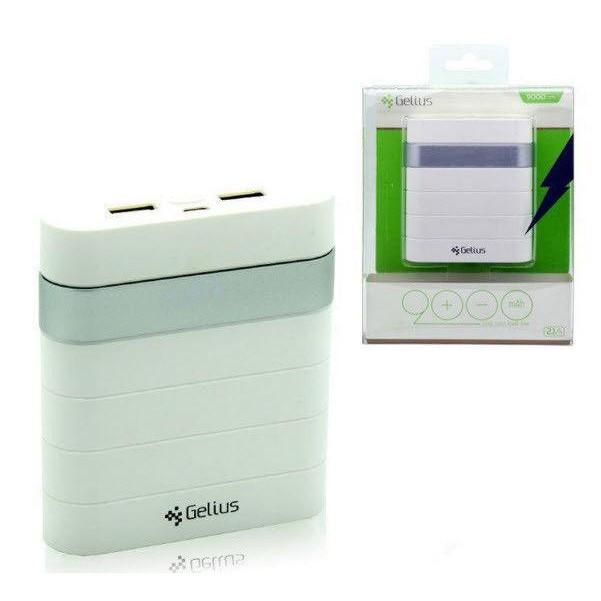 Дополнительная батарея Gelius GL-200 9000mAh 2,1A/2,1A Silver - Kubikrubik - магазин IT, Электроники и аксессуаров. в Киеве