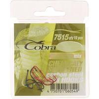Крючки Cobra MIX сер.7515 разм.012 10шт.