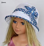 Шляпка сетка, цвет джинс (летняя)