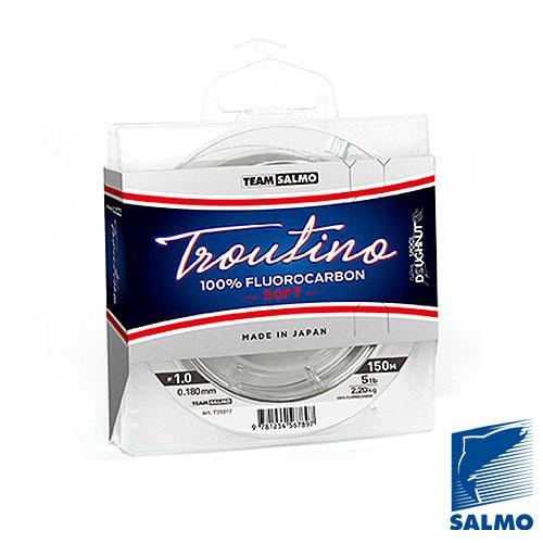 Леска моно. Team Salmo FLUOROCARBON Troutino Soft 150/025