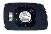 Элемент зеркала KIA Picanto I (04-07) левый асферический с обогревом