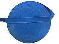 Тесьма сумочная, цвет голубой, ширина 3 см (50м в рул. )