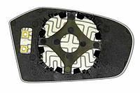 Элемент зеркала MERCEDES A-klasse (04-09) левый асферический с обогревом