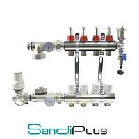 Сборный коллектор Sandi Plus, на 9 контура, с 1м конечным элементом