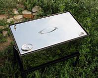 Коптильня из нержавеющей стали (520x300x280) с термометром