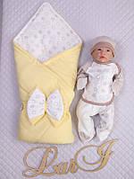 """Конверт и набор для новорожденного """" Маленький капитошка"""