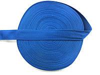 Тесьма сумочная, цвет голубой, ширина 4 см (50м в рул. )