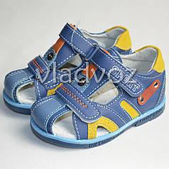 Босоножки сандалии синие для мальчика 22р. Bessky