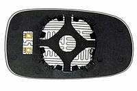 Элемент зеркала SAAB Sport Sedan (03-10) левый сферический с обогревом