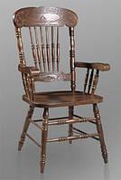 Деревянный стул с подлокотниками CCKD-818-А темный орех Малайзия