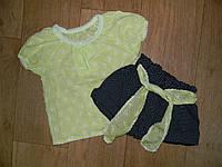 """Комплект """"Кэт-2"""" (рубашечка и шортики), батист/кулир, р.28,30,32,34"""