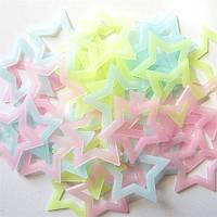 Звёзды светящиеся разноцветные (40 шт.)