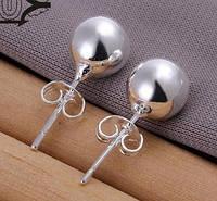 Красивые  серебренные серьги пусеты 925