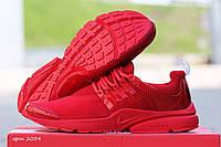 Мужские кроссовки Nike Air Presto, красные / бег кроссовки мужские Найк Аир Престо, плотная сетка, модные