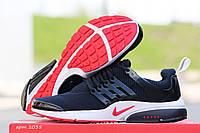 Мужские кроссовки Nike Air Presto, синие с белым / беговые кроссовки мужские Найк Аир Престо, плотная сетка