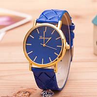 Женские часы Geneva на ремешке из экокожи синие