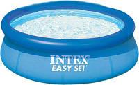 Бассейн Intex Easy Set 28110 круглый, размер 244х76 см, 2419 л, надувное кольцо, трехслойный ПВХ