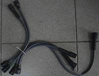 Провод зажигания УАЗ силикон черный  5шт. (пр-во Украина)