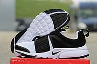 Мужские кроссовки Nike Air Presto, плотная сетка, белые с черным / кроссовки мужские Найк Аир Престо, удобные