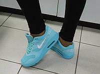 Женские Кроссовки Nike, легкие, в сетку, цвет- Бирюза