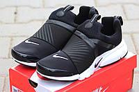 Мужские кроссовки Nike Air Presto, плотная сетка, черно белые / кроссовки для бега мужские Найк Аир Престо
