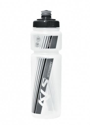 Фляга велосипедна Namib 700 мл прозорий/чорний 99000131 KLS