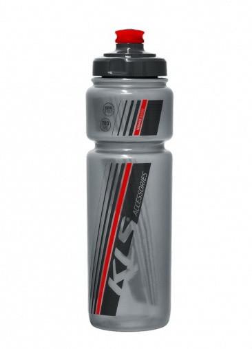 Фляга велосипедна Namib 700 мл сірий/червоний 99000110 KLS