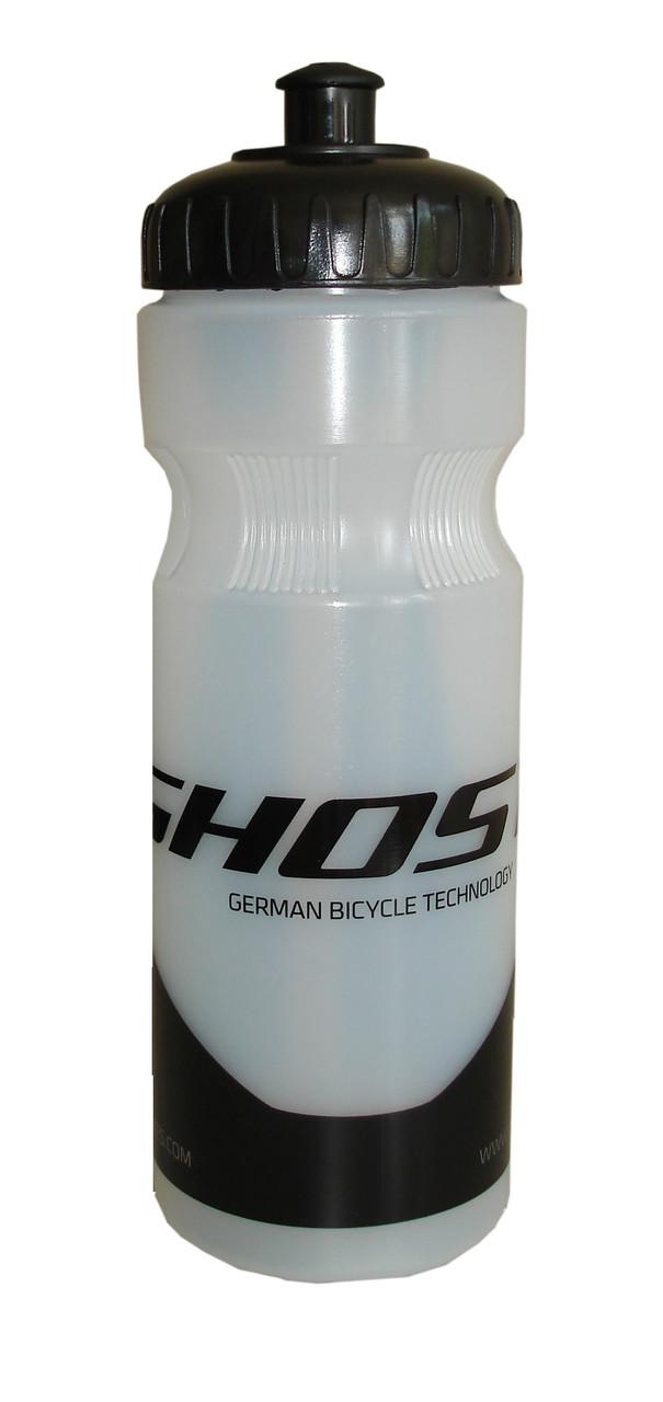 Фляга велосипедна Water Bottle 500 мл прозорий/чорний (14099) GHOST