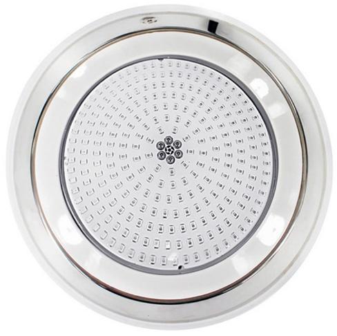 Прожектор светодиодный Aquaviva LED002–252LED (18 Вт) RGB (нержавеющая сталь) под бетон / лайнер