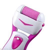 Электрическая роликовая пилка Kemei KM 2504, бело-розовая, 2 съемных аккумулятора, вес 141 г