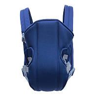 Рюкзак сумка кенгуру для переноски детей, слинг (синий)