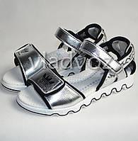 Босоножки сандалии для девочки серебристые EEE.B спорт 31р.