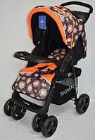Прогулочная детская коляска-трость Sigma S-K-5AF. Оранжевая.