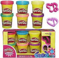 Play-Doh. Набор пластилина из 6 баночек Блестящая коллекция