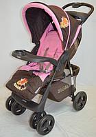 Прогулочная детская коляска-трость Sigma S-K-6F. Розовая.
