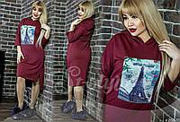 Платье большого размера, .ткань:Турецкая двухнитка (под джинс) 3 расцветки , фото реал вб № 587