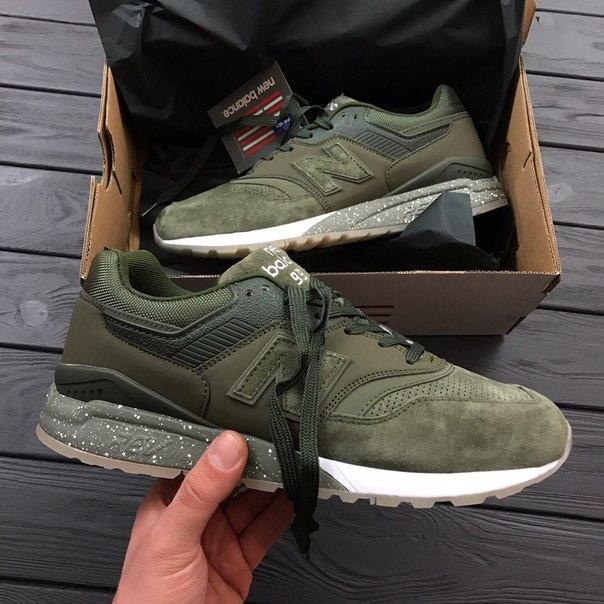 Мужские кроссовки New Balance 997 haki - Магазин Nike-Shop. Брендовая  спортивная одежда и 8eabeb2f525be