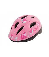 Шлем детский Green Cycle Foxy размер 50-54см розовый/малиновый/белый лак