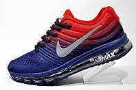 Кроссовки мужские Nike Flyknit Air Max 2017, Dark Blue\Red