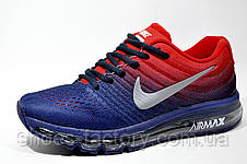 Кроссовки мужские Nike Flyknit Air Max 2017, Dark Blue\Red, фото 2
