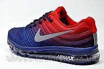 Кроссовки мужские Nike Flyknit Air Max 2017, Dark Blue\Red, фото 3