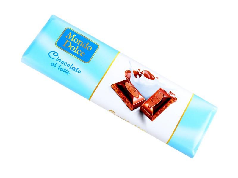 Молочный шоколад Mondo Dolce Cioccolato al Latte, 250 грамм