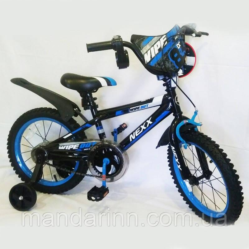 """Велосипед дитячий """"NEXX BOY-16"""" 16 дюймів. Синій."""