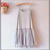 Платье Основа вискоза Юбка выполнена из евросетки ,Цвета чёрный ,серый,  белый ,пудра 1bf9263067e