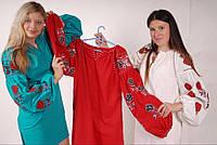 Туника вышитая платье лен, вышиванка бохо стиль , Bohemian, этно