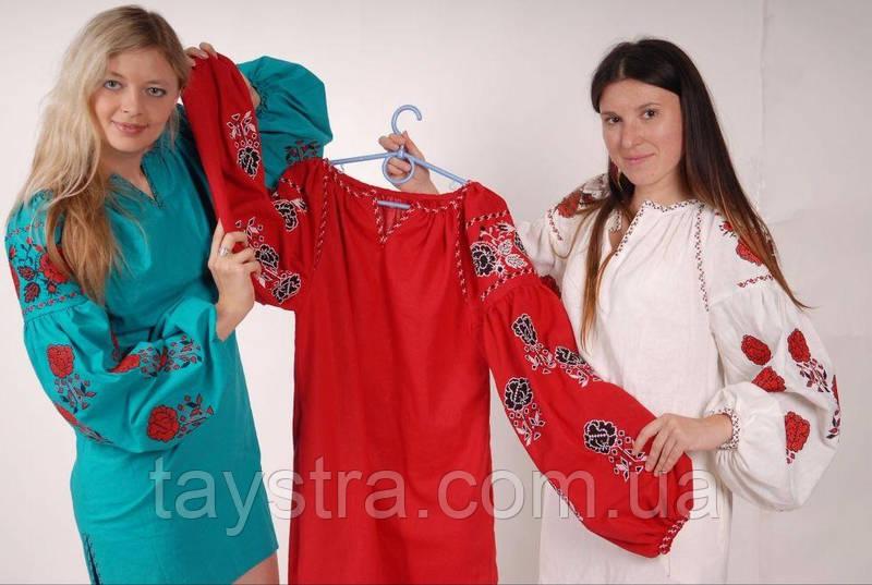 Туника вышитая платье лен 8eb9332c4557f