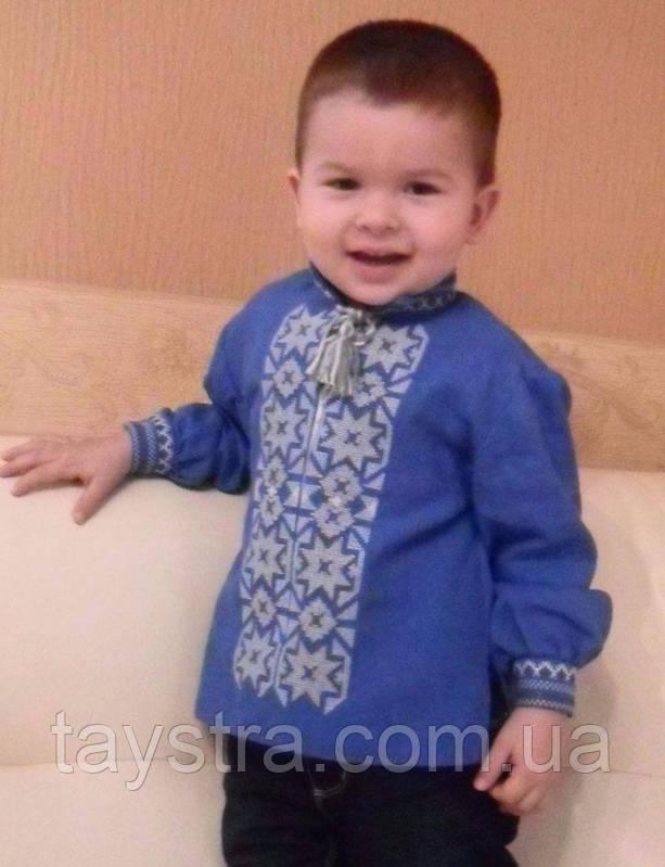 Детская вышиванка для мальчика лен, бохо, этно